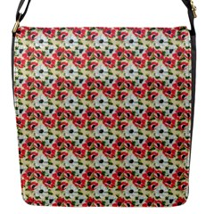 Gorgeous Red Flower Pattern  Flap Messenger Bag (s) by Brittlevirginclothing