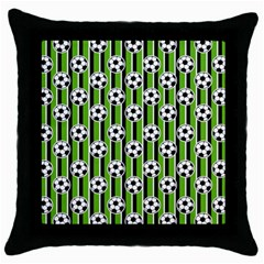 Ball Line Throw Pillow Case (black)