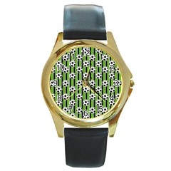 Ball Line Round Gold Metal Watch by AnjaniArt