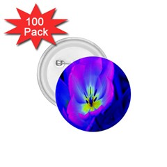 Blue And Purple Flowers 1 75  Buttons (100 Pack)  by AnjaniArt