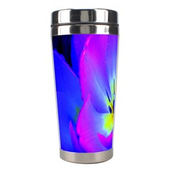 Blue And Purple Flowers Stainless Steel Travel Tumblers by AnjaniArt