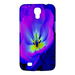 Blue And Purple Flowers Samsung Galaxy Mega 6 3  I9200 Hardshell Case by AnjaniArt