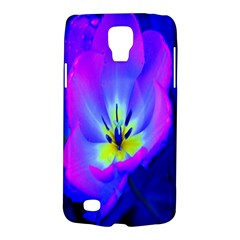 Blue And Purple Flowers Galaxy S4 Active by AnjaniArt