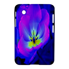 Blue And Purple Flowers Samsung Galaxy Tab 2 (7 ) P3100 Hardshell Case  by AnjaniArt