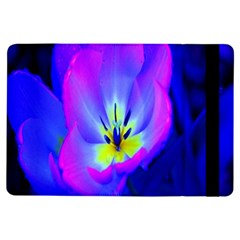 Blue And Purple Flowers Ipad Air Flip by AnjaniArt