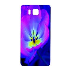 Blue And Purple Flowers Samsung Galaxy Alpha Hardshell Back Case by AnjaniArt
