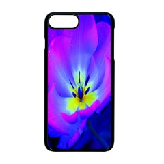 Blue And Purple Flowers Apple Iphone 7 Plus Seamless Case (black) by AnjaniArt