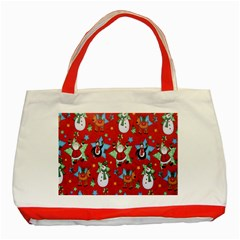 Xmas Santa Clause Classic Tote Bag (red)