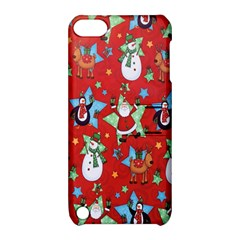Xmas Santa Clause Apple Ipod Touch 5 Hardshell Case With Stand