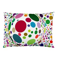 Color Balls Pillow Case by AnjaniArt