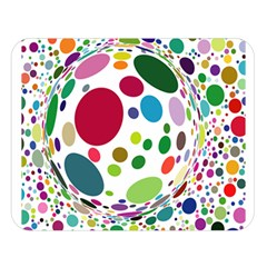 Color Balls Double Sided Flano Blanket (large)