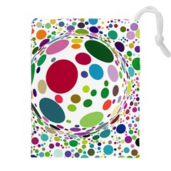 Color Balls Drawstring Pouches (xxl) by AnjaniArt