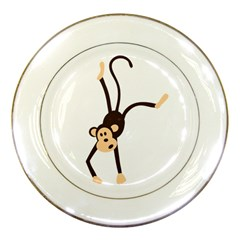 Colorful Animal Monkey Porcelain Plates