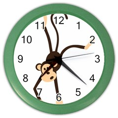 Colorful Animal Monkey Color Wall Clocks