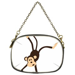 Colorful Animal Monkey Chain Purses (one Side)  by AnjaniArt