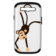 Colorful Animal Monkey Samsung Galaxy S Iii Hardshell Case (pc+silicone) by AnjaniArt