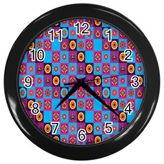Batik Wall Clocks (black) by AnjaniArt