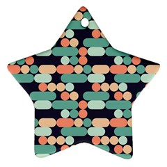 Coral Mint Color Style Ornament (star)  by AnjaniArt
