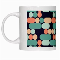 Coral Mint Color Style White Mugs