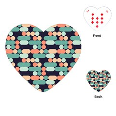 Coral Mint Color Style Playing Cards (heart)  by AnjaniArt