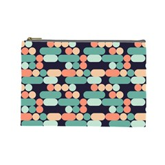 Coral Mint Color Style Cosmetic Bag (large)  by AnjaniArt