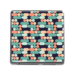 Coral Mint Color Style Memory Card Reader (square) by AnjaniArt