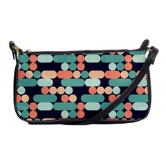 Coral Mint Color Style Shoulder Clutch Bags by AnjaniArt