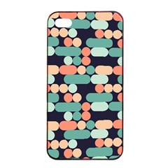 Coral Mint Color Style Apple Iphone 4/4s Seamless Case (black)