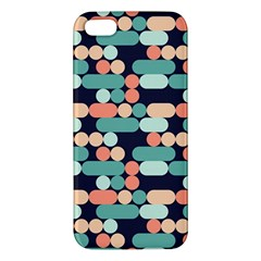 Coral Mint Color Style Apple Iphone 5 Premium Hardshell Case by AnjaniArt