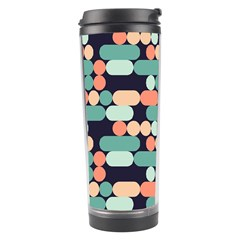 Coral Mint Color Style Travel Tumbler by AnjaniArt