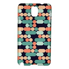 Coral Mint Color Style Samsung Galaxy Note 3 N9005 Hardshell Case by AnjaniArt