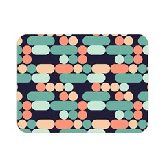 Coral Mint Color Style Double Sided Flano Blanket (mini)  by AnjaniArt