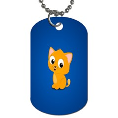 Cute Cat Dog Tag (two Sides)