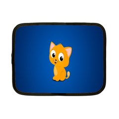 Cute Cat Netbook Case (small)  by AnjaniArt