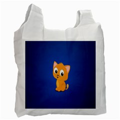 Cute Cat Recycle Bag (one Side)