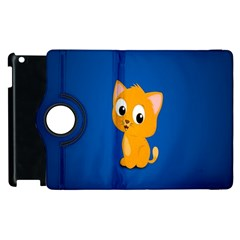 Cute Cat Apple Ipad 3/4 Flip 360 Case by AnjaniArt