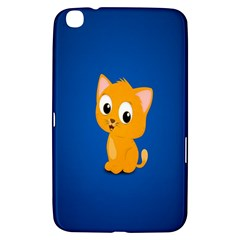 Cute Cat Samsung Galaxy Tab 3 (8 ) T3100 Hardshell Case  by AnjaniArt