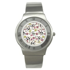 Cow Animals Stainless Steel Watch by AnjaniArt