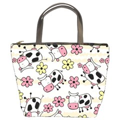 Cow Animals Bucket Bags by AnjaniArt