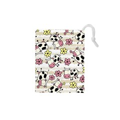 Cow Animals Drawstring Pouches (xs)  by AnjaniArt