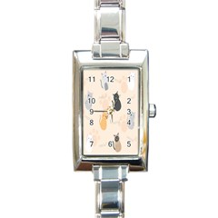 Cute Cat Meow Animals Rectangle Italian Charm Watch