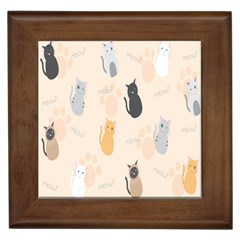 Cute Cat Meow Animals Framed Tiles by AnjaniArt