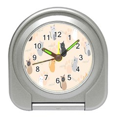 Cute Cat Meow Animals Travel Alarm Clocks