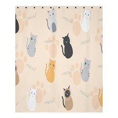 Cute Cat Meow Animals Shower Curtain 60  X 72  (medium)  by AnjaniArt