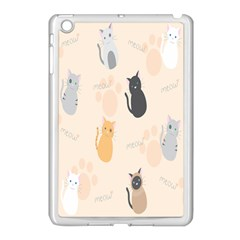 Cute Cat Meow Animals Apple Ipad Mini Case (white) by AnjaniArt
