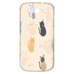 Cute Cat Meow Animals Samsung Galaxy S3 S Iii Classic Hardshell Back Case