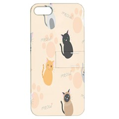 Cute Cat Meow Animals Apple Iphone 5 Hardshell Case With Stand