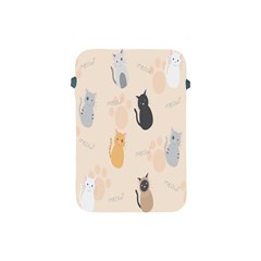 Cute Cat Meow Animals Apple Ipad Mini Protective Soft Cases by AnjaniArt
