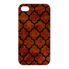 Tile1 Black Marble & Brown Marble (r) Apple Iphone 4/4s Hardshell Case by trendistuff
