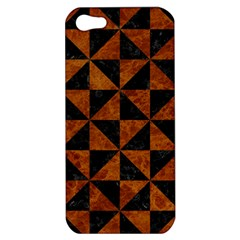 Triangle1 Black Marble & Brown Marble Apple Iphone 5 Hardshell Case by trendistuff